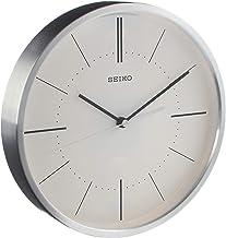 ساعة حائط من سيكو بعقرب ثوانٍ يتحرك دون صوت وهيكل من الالمنيوم - 25 سم