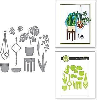 Spellbinders Happy Plants Thin Metal Etched Die Set, Green