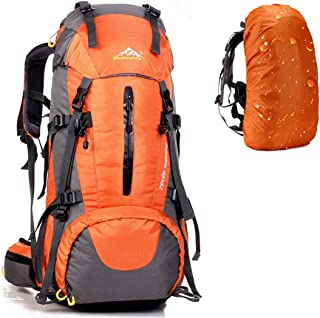 Hiking Backpack 50L Light Weight Travel Daypack Waterproof with Rain Cover