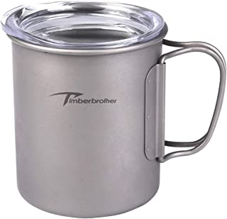 Timberbrother 300ml Titanium Double Wall Cup with Lid