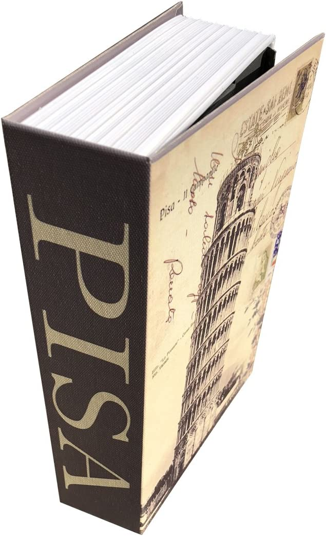 Sepox Hollowed Out Book Anti-Theft Safe Lock Box with Key Lock Portable Book Hidden Safe for Home, Store Money, Jewelry, and Passport