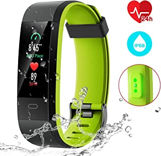 CHEREEKI Fitness Tracker, Activity Tracker with Heart Rate Monitor IP68 Waterproof Fitness Watch with Color Screen,14 Sport Modes, Sleep Monitor, Calorie Counter Smart Pedometer for Men Women Kids