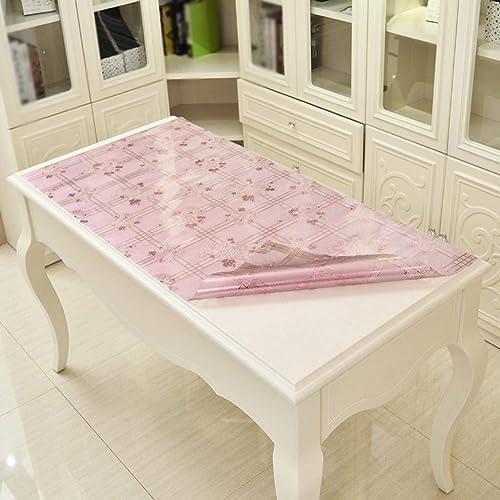 MARCU Home Nappes imperméables Anti-Huile, Tapis de Table en PVC, Tapis de café en Plastique rectangulaire en Verre Doux Anti-Plaque de Cristal, 1, 70  120cm