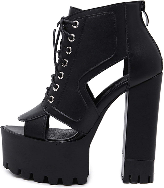 2019 Heels Sandals Summer Platform Sandals for Women Fashion Buckle Thick Heels shoes Big Size 39