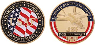 Ladaidra United States Air Force F-35 Fighter Commemorative Coins for Military Funs