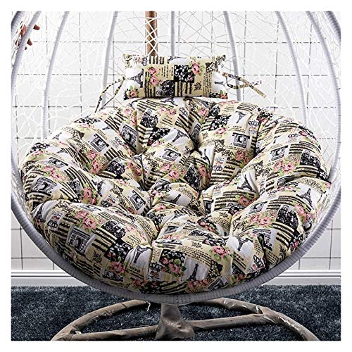 Colgando cesta colchoneta colchoneta, cojín de sil Cojines de silla de hamaca, acolchado antideslizante acolchado suave colgante de sillín de columpio hamaca Swing Asiento Cojín 105x10cm (41x4inch)