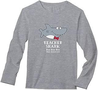Teacher Shark Doo Doo Funny Gift for Teachers Long Sleeve T-Shirt