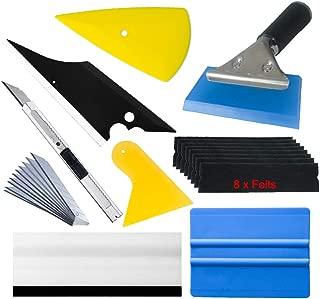Window Tint Tools Vinyl Wrap Kit for Vehicle Film Including Felt Squeegee,Scraper,Knife Blade