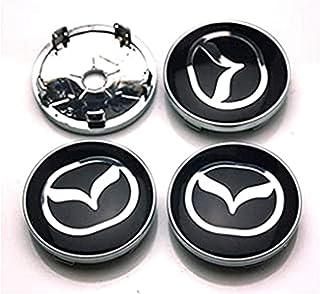 JXHDKJ 4pcs W057/57/mm auto styling accessori emblema del distintivo mozzo ruota Caps centro copertura per Mazda 2/3/6/Atenza Axela CX-5/CX-7/cx-8