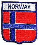 PP Patch Norway Flag Patch Vest Jacket Biker Patch National Country Flag Novelty Iron on Sign Badge Costume Uniform Emblem