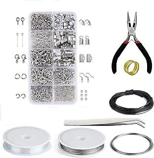 Queta Kit di Accessori per Gioielli Fatti a Mano, Set di Perline e creazione di Gioielli con pinze Strumenti per Principia...