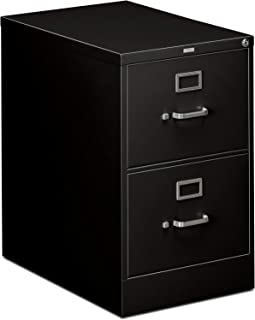 HON 310 Series Vertical File Cabinet Legal Width, 2 Drawers, Black (H312C)