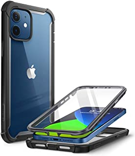 i-Blason Ares Series Designed for iPhone 12 Mini Case (2020), Dual Layer Rugged Clear Bumper Case with Built-in Screen Pro...
