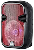 QFX PBX-1205-RD Rechargeable 12' Party Speaker with Stand and Microphone - Red