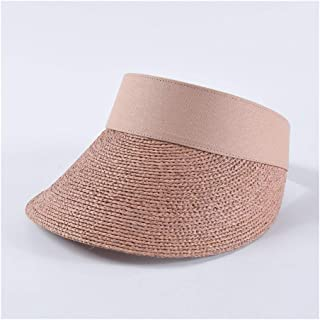Summer Empty top hat Female INS Fashion Hipsters Wild Lafite Straw hat Beach Holiday Travel hat` TuanTuan (Color : Pink)