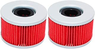 Yerbay Motorcycle Oil Filter for Honda TRX680FA Rincon 680 2006-2016 / TRX680FGA Rincon Gpscape 680 2006-2010,Pack of 2