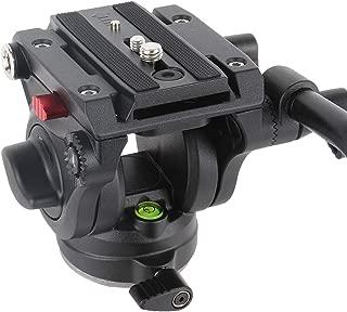 Avella V501 Video Camera Tripod Fluid Drag Pan Head for Canon Nikon Sony Olympus Panasonic DSLR Camera,Tripods with 3/8