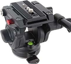 Avella V501 Video Camera Tripod Fluid Drag Pan Head for Canon Nikon Sony Olympus Panasonic DSLR Camera, with 3/8