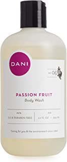 Moisturizing Body Wash by DANI Naturals - Juicy Passion Fruit Scented - Organic Aloe Vera & Natural Glycerin - Paraben & Sulfate Free Shower Gel - 12 Ounce Bottle