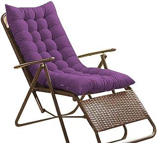 Cojines para tumbonas de jardín gruesos y suaves cojines para mecedora almohadilla extraíble para relajante cómoda alfombrilla para silla perfecta para interiores y exteriores con lazos de fijación