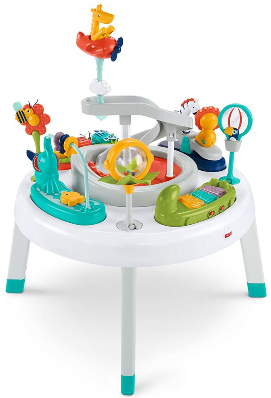 Fisher-Price 2-in-1 Sit-to-Stand Activity Center, Spin 'n Play Safari h86666463