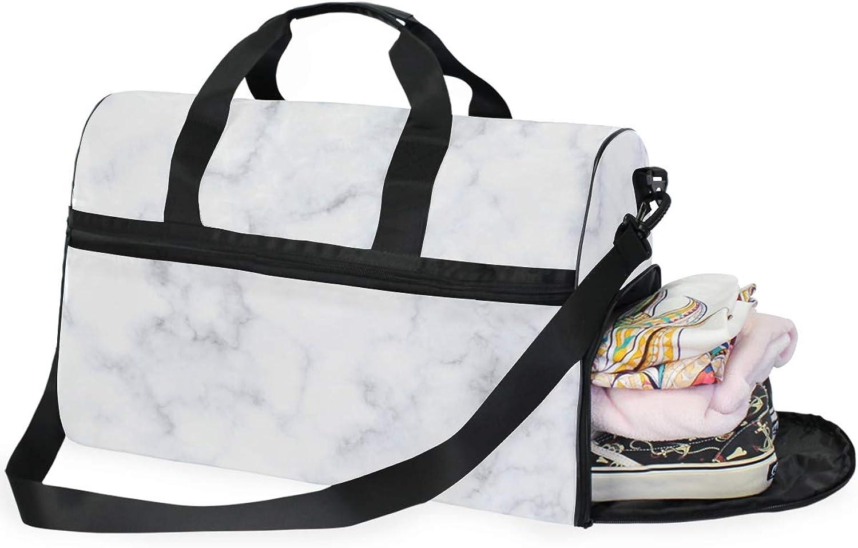 DEZIRO Weekender Bag Canvas Duffle Bag for Travel, Amazing Marble 45L Duffel Overnight Weekend Bag