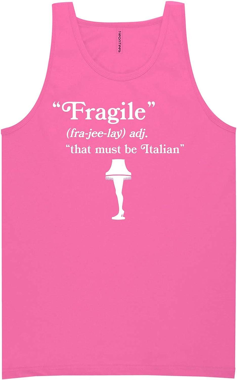 zerogravitee Fragile That Must Be Italian Neon Pink Tank Top - XX-Large