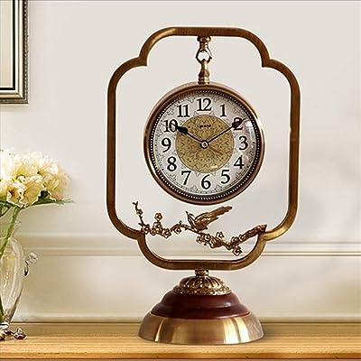 QXX Reloj Decoración Reloj Asiento Sala de Estar Personalidad Creativa Reloj de sobremesa Reloj casero Reloj
