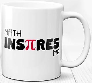 Math Inspires Taza de café Math Lover Pi Gift 330 ml Taza de cerámica para profesores y estudiantes