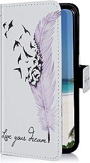 Uposao Kompatibel med Huawei P20 Lite läderfodral läderfodral färgglada coola mönster mobilfodral plånbok vikbart fodral b...