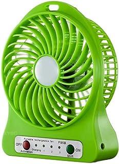 Ventilador De Mesa,Ventilador De Escritorio Silencioso Mini Ventilador Ventiladores Personales Eléctrica Verde De Mano Recargable Usb Ventilador De Escritorio Para Oficina En Casa Viajar Al Aire Lib