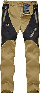 TBMPOY Women's Windproof Waterproof Snow Pants Outdoor Hiking Fleece Pants