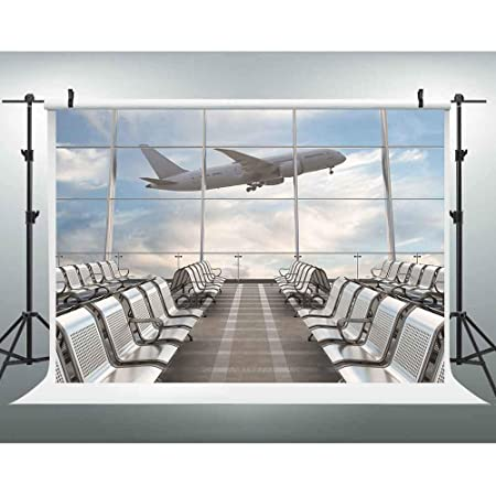 7x10 FT Airplane Vinyl Photography Backdrop,Military Radar Screen Global Defense Danger Detecter Scanner Signal System Print Background for Baby Shower Bridal Wedding Studio Photography Pictures