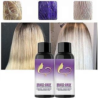 Brass-Corrector Violet Shampoo 100ML Brass Away Shampoo and Conditioner No Yellow Shampoo Remove Brassy Hair Hidrata el...
