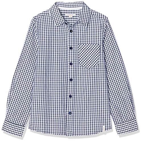 ESPRIT KIDS Jungen RP1201608 Woven Shirt Hemd, Blau (Navy 490), 128 (Herstellergröße: XS)