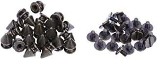 Matefield 20Pcs 8X12Mm Alloy Bullet Studs Rivets Spike Spots Screwback Bronze