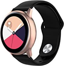 Wareon Compatible with Samsung Galaxy Watch Active 2 40mm/44mm/Active 1/Galaxy Watch 42mm/Gear S2 Classic SM-7320/Sport SM-600 20mm Quick Release Sport Silicone Bands Straps Wristbands
