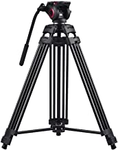 miliboo MTT601A Heavy Duty Aluminum Video Tripod with Middle Spreader Design Camera Tripod Stand