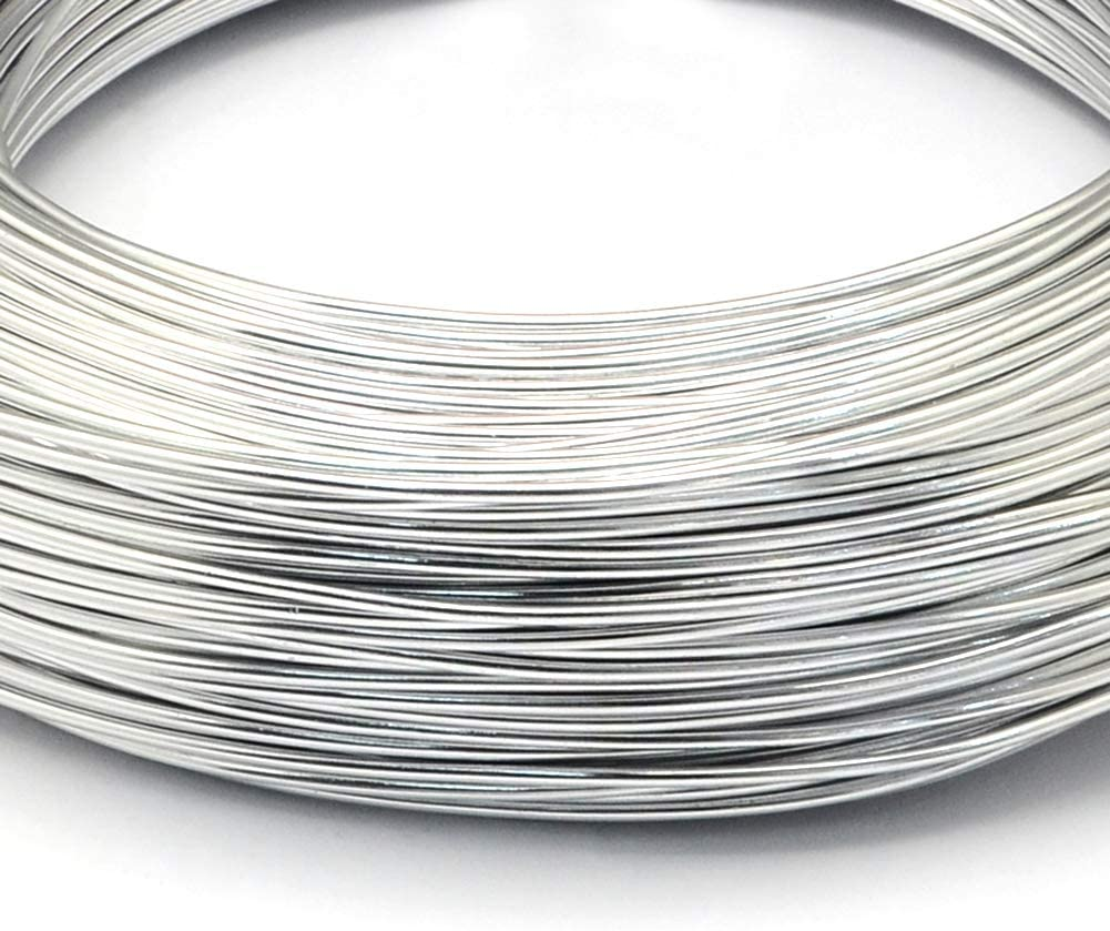 Kissitty 10 Rolls 16-Gauge 1.5mm Aluminum Craft Wire Tarnish Resistant Dark Turquoise Coil Jewelry Floral Making Beading Wire 32.8 Feet//Roll