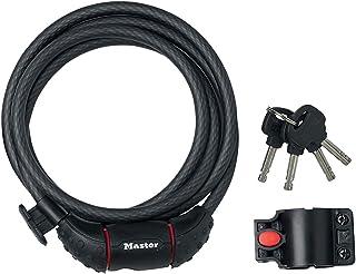 Master Lock Keyed Bike Cable Lock, 1.8 m Length x 10 mm Diameter