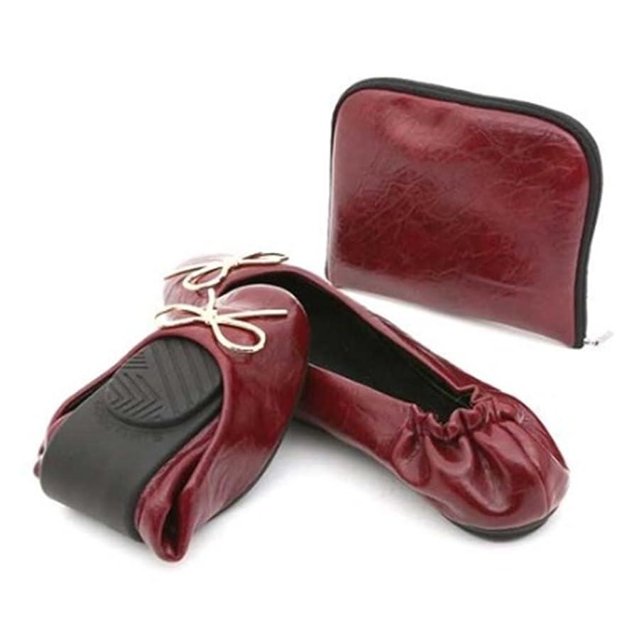 許される延ばす甥Tovoroni Women's Foldable Ballet Flat with Carrying Case [並行輸入品]