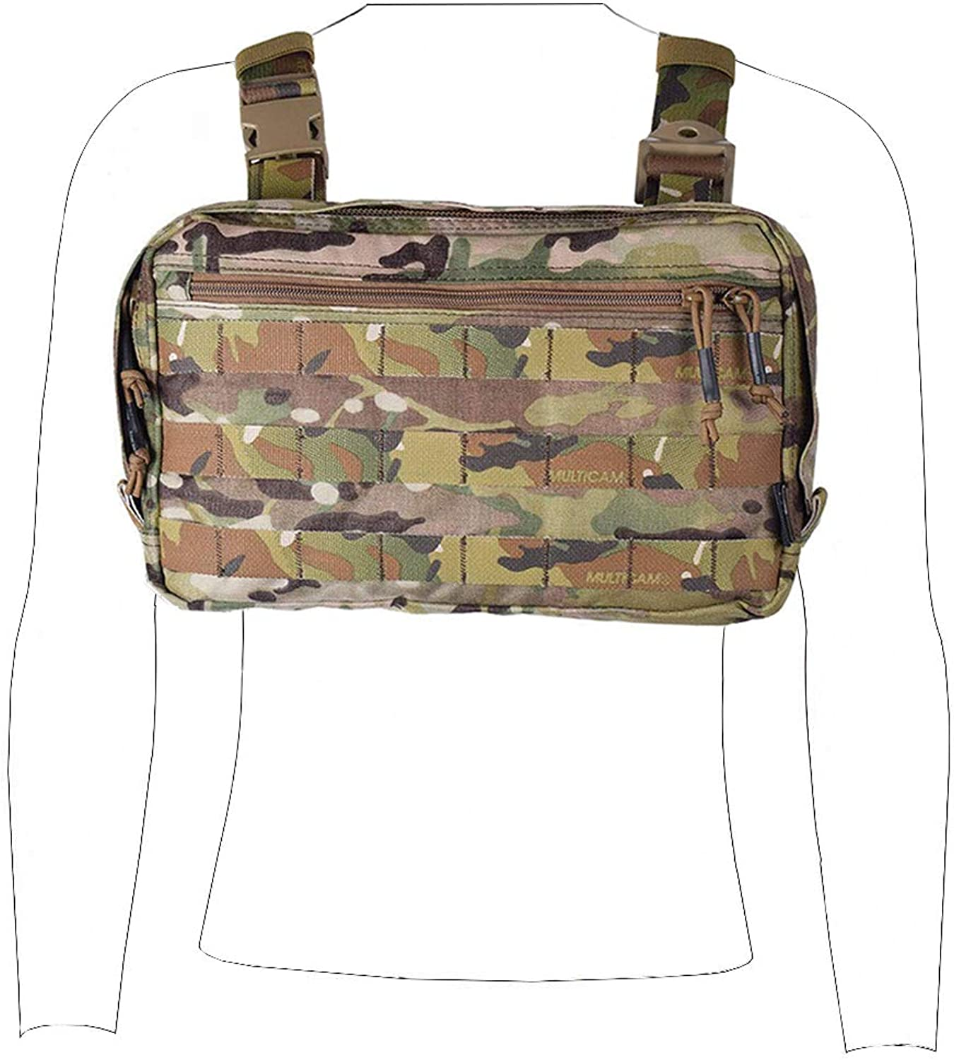 Tactical Recon Kit Bag Military Paintball EDC Pouch Airsoft Combat Bag