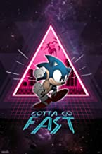 Pyramid America Sonic The Hedgehog Gotta Go Fast Neon Space Video Game Gaming Cool Wall Decor Art Print Poster 12x18