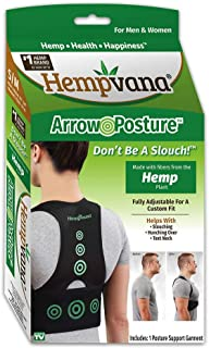 Hempvana Arrow Posture Back Brace by Hempvana - Fully Adjustable Posture Support and Posture Corrector for Upper Body - Helps Correct Slouching, Text Neck, and Hunching Over – L/XL