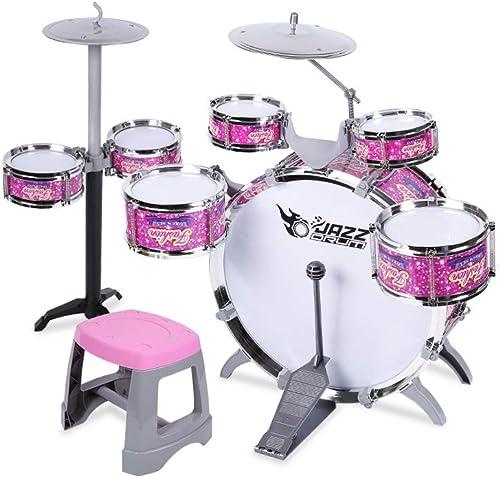 LINGLING-Trommel Kindertrommeln Musik Lernspielzeug Größe 7 Trommel Verdickung Tympanic Membrane (Farbe   Rosa)