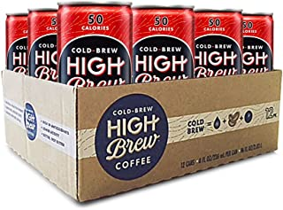Sponsored Ad - High Brew Coffee Double Espresso Can, 8 Fl Oz, Pack of 12