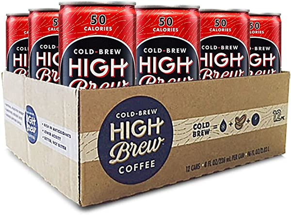 High Brew Coffee Double Espresso Can 8 Fl Oz Pack Of 12