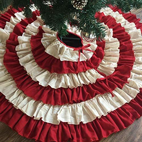 Falda de árbol de Navidad, tela de yute, para verificar 8 capas ...