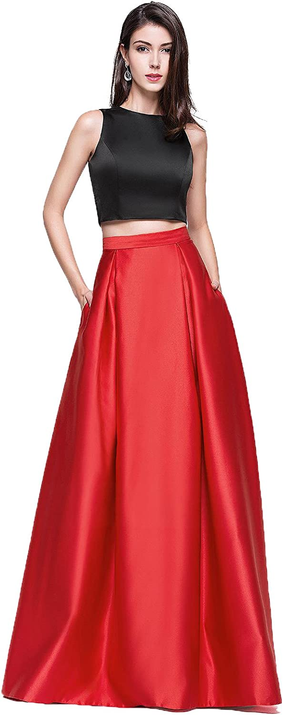 ALine Princess Scoop Neck FloorLength Satin Prom Dress