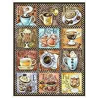 ワインパズル300ピースさまざまなコーヒー教育用大難易度パズルゲーム38X52cm